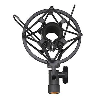 25mm Metal Condensator Microfoon Microfoon Schokbeugelhouder Zwart
