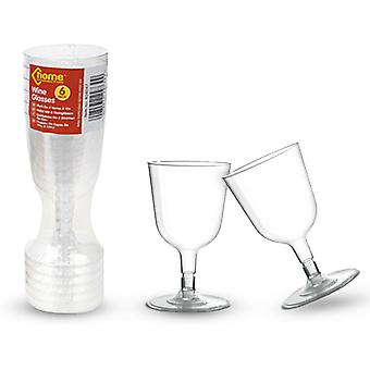 PmS Clear Plastic Wine Glasses Pack de 6