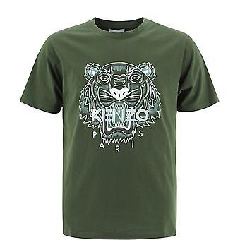 Kenzo Fb55ts0204ya51 T-shirt en coton vert Homme&s