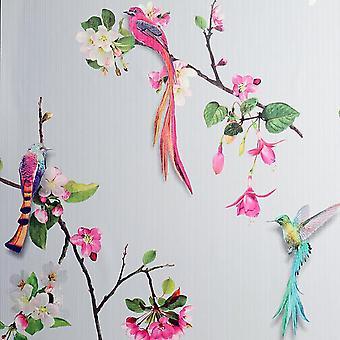 Arthouse Birds of Paradise Grey/Pink