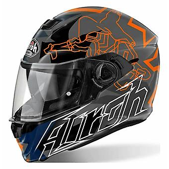 Airoh Storm Bionikle Full Face Motorcycle Helmet Black ACU Approved