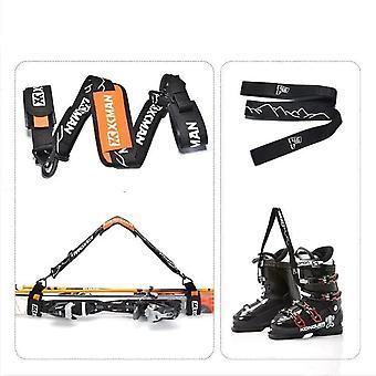 מוטות סקי אלפיניים ובונוס רצועות נושאות מגפיים - מנשא כתף