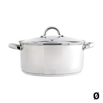 Casserole with glass lid Quid Ottawa Stainless steel/18 cm