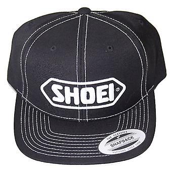 Shoei Baseball Cap-Black (Vit logotyp)