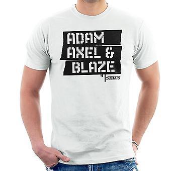 Sega Streets Of Rage Adam Axel og Blaze Menn's T-skjorte