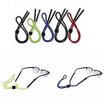 Set of 5 Colors Adjustable Floating Eyewear Retainer Rope