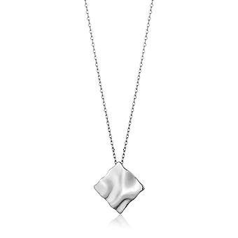 Ania Haie Silver Rhodium Plated Crush Square Necklace N017-03H