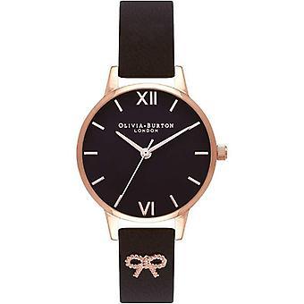 Olivia Burton OB16VB07  Vintage Bow Black Dial Ladies Watch