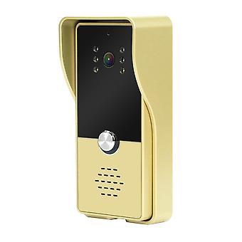 Buitendeurbel voor bedrade video, intercomondersteuning, infrarood nachtzicht,