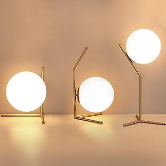 Moderne Glaskugel, Gold Nordic Schreibtischlampe für Home Decor