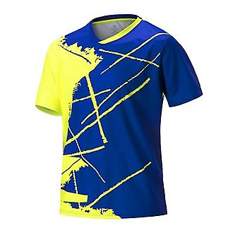 Abbigliamento da tennis da tavolo da uomo, allenamento con camicia da badminton