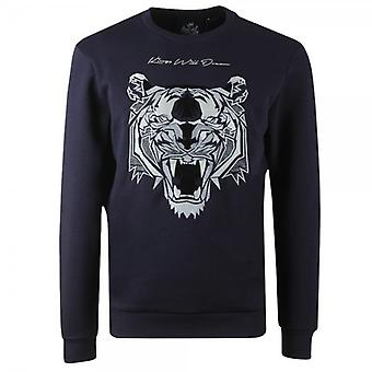 Kings Will Dream Demon Crew Neck Navy Sweatshirt