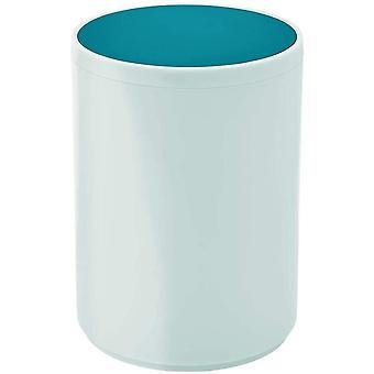 mDesign Swing Lid Bathroom Bin – Small Round Rubbish Bin for Bathroom or Bedroom