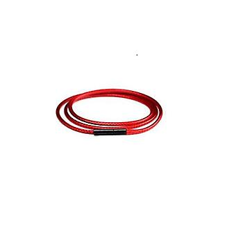 Necklace Leather Cord Wax Rope Chain With Stainless Steel Clasp