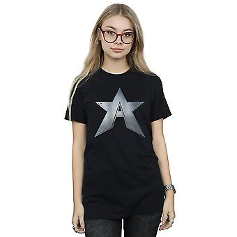 Marvel Women's The Falcon And The Winter Soldier A Star Boyfriend Fit T-Shirt