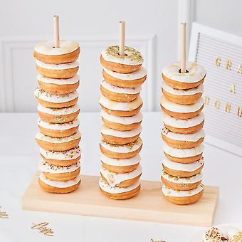 Wooden Donut Stacker - Gold wedding - Wedding Decoration