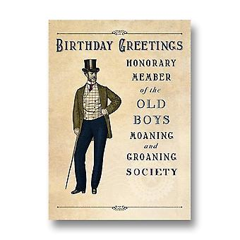 Pigment Pinot Grigio - Moaning And Groaning Society Birthday Card Dv048a