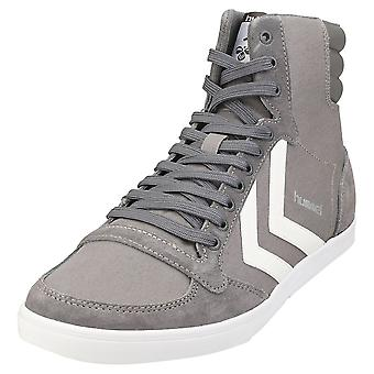 hummel Slimmer Stadil High Mens Casual Trainers in Grey White