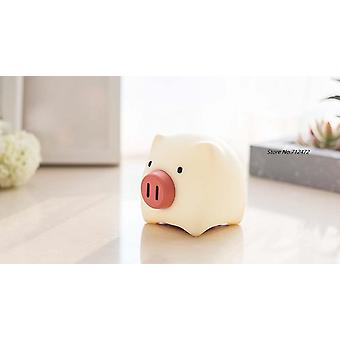 Cute Pig Led Lights Bedroom Soft Silicone Usb Rechargeable Timing Off Color