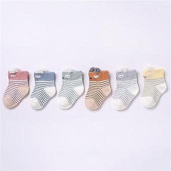 6pairs/set Newborn Baby Cotton Autumn Winter Socks