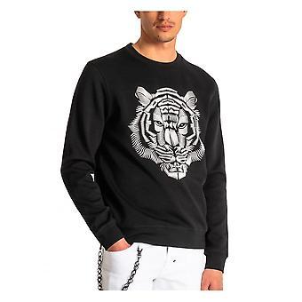 Antony Morato Mens Lion Regular Fit Sweatshirt Zwart