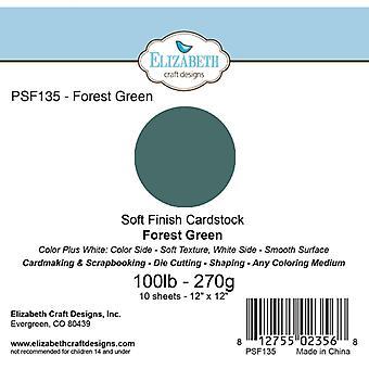 Elizabeth Craft Designs - Soft Finish Cardstock Forest Green