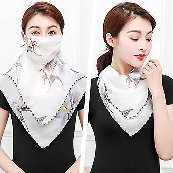 Chiffon Face Mask Protection Women Sun Scarves Neck Cover