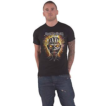 Iron Maiden T Shirt Eddie Exploding Head Band Logo new Official Mens Black