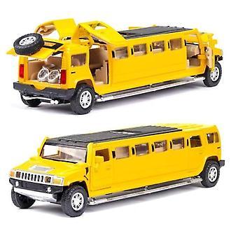 1:32allo hummer limousine modello di auto in metallo (Giallo)