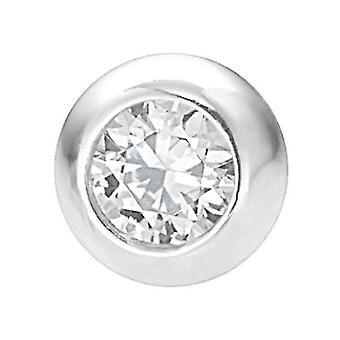 Cubic Zirconia Replacement Piercing Ball, Externally Threaded, Gauge Jewelry
