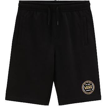 Vans Boys Kids Off The Wall Casual Summer Gym Sports Fleece Sweat Shorts - Black