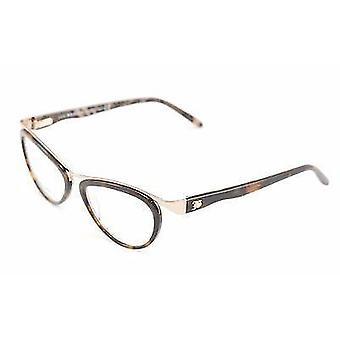 John Galliano Eyeglasses Frame JG5008 052 Metal Plastic Brown Gold Italy Made