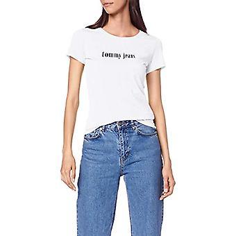 Calvin Klein Organic Cotton Blend Logo T-Shirt, White (Classic White 100), XX-Small Woman