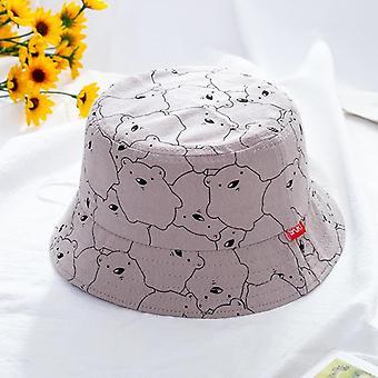 Karhun painatus Puuvilla Pehmeä Lasten Hattu, Rento Monivärinen Panama Korkki