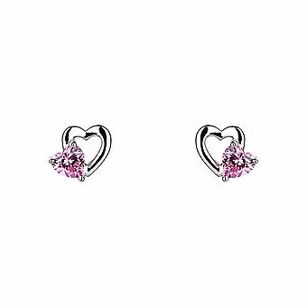 Avec Amour - Sweet Heart - Icônes Boucles d'oreilles - Argent - Bijoux Cadeaux pour femmes de Lu Bella
