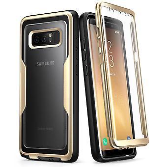 Galaxy Note 8-fodral, Magma, i-Blason, Robust hölsterväska med skärmskydd - Guld