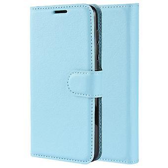 Pu leather magsafe case for iphone 8 blue pc729