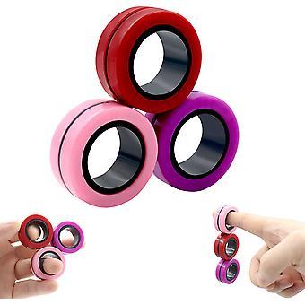 Stressinvastaiset magneettiset fidget-renkaat