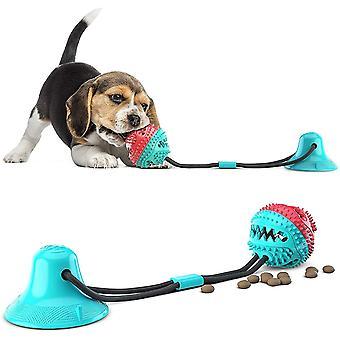 Hundespielzeug mit Saugnapf, Zahnbürsten-Stick, Hundezahnbürste Kauspielzeug, Ball Leckerli-Spender