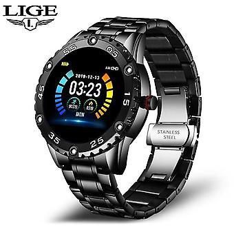 Smart Watch Männer und Frauen Sportuhr Blutdruck Schlaf Smart Uhren (Schwarz)