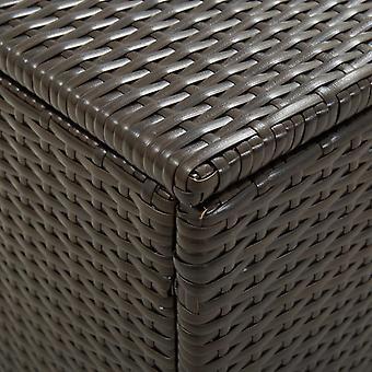 vidaXL Tuinbox Poly Rotan 200x50x60 cm Bruin