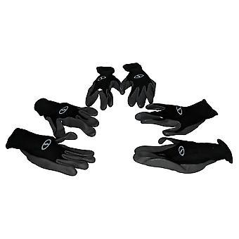 Sun Joe Ensemble femme de 3 gants en nitrile lavables Noir M64903