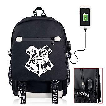 Harry Potter Student Rucksack USB-Ladedruck Computertasche
