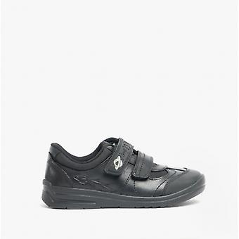 Start-Rite Rocket Boys Leather Touch Fasten School Shoes Black