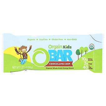Orgain Bar Kids Energy Choc Chip, Case of 10 X 1.27 Oz