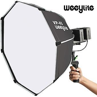 Weeylite vp-45 60cm المثمن مظلة softbox في الهواء الطلق استوديو فلاش المحمولة لينة مربع كوب صورة ضوء ل weeylite ninja200