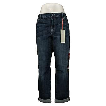 Laurie Felt Mujeres's Jeans Classic Denim Embellished Novio Azul A343605