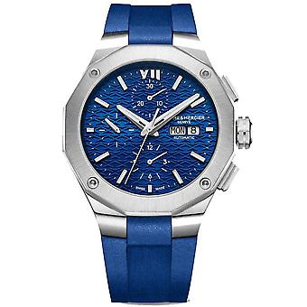 Baume & Mercier M0a10623 Riviera Silver And Blue Silicone Automatic Chronograph Men's Watch