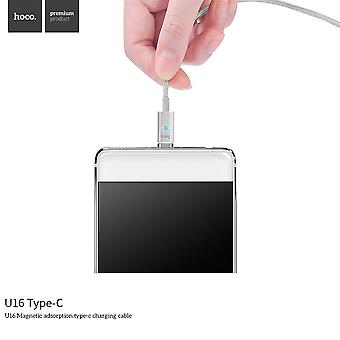 Hoco U16 1.2m Usb Type-c Magnetic Charging Nylon Braided Magnetic Charger