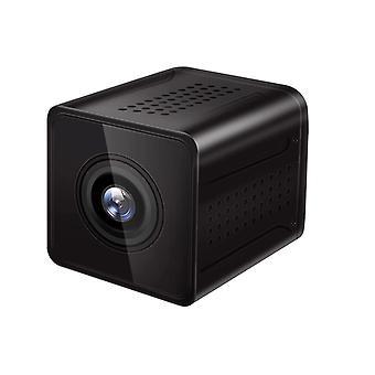HD 1080P Wireless WiFi Mini Kamera Nachtsicht Sicherheit Videoüberwachung Remote Monitor Bewegungserkennung Micro Camcorder -8GB (Schwarz)